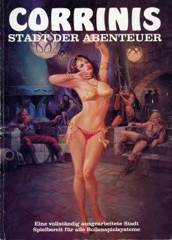 Titelbild: eine leicht bekleidete Tänzerin tanzt in einer Taverne vor Publikum