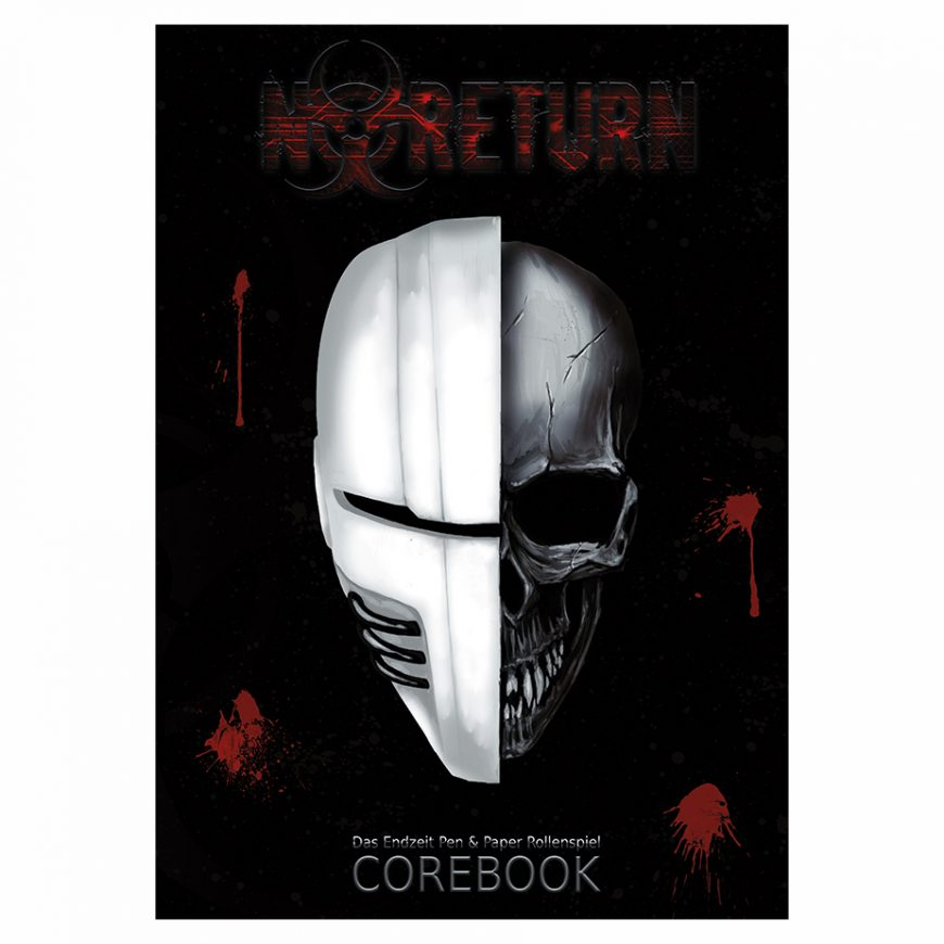Titelbild des Buches: Ein Totenschädel, die rechte Gesichtshälfte ist hinter einer modernen Maske verborgen